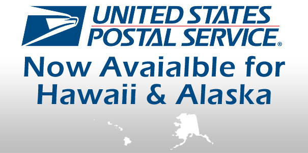 USPS Now Available for Hawaii & Alaska