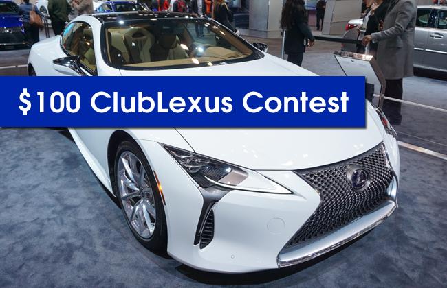 $100 ClubLexus Contest