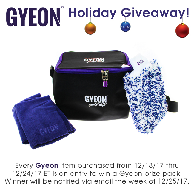 Detailed Image Gyeon Holiday Giveaway
