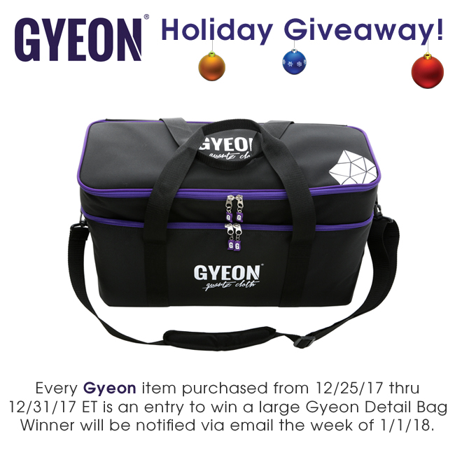 Detailed Image Gyeon Holiday Giveaway 12/25/17