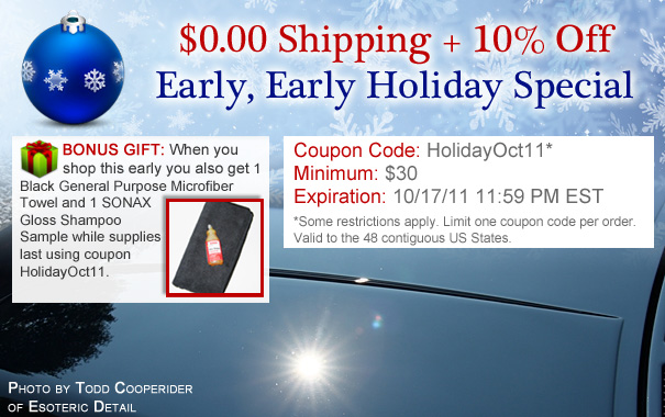 Early, Early Holiday Free Shipping + 10% Off Coupon HolidayOct11
