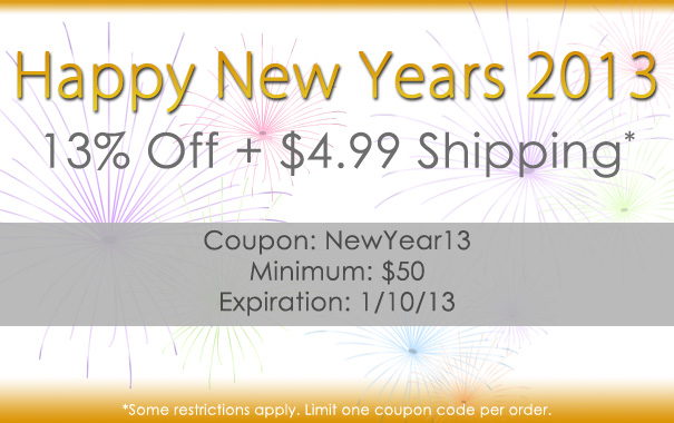 Happy New Years 2013 - Coupon NewYear13
