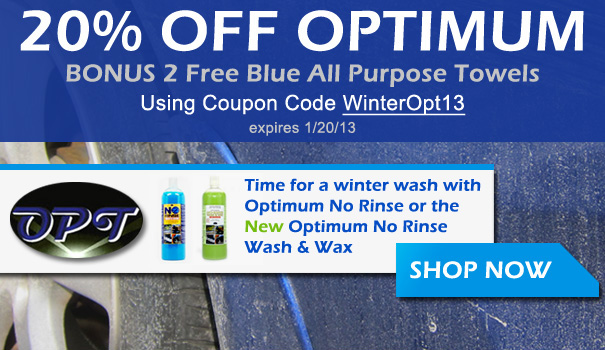 20% Off Optimum w/ Bonus 2 Free Blue All Purpose Towels using coupon code WinterOpt13