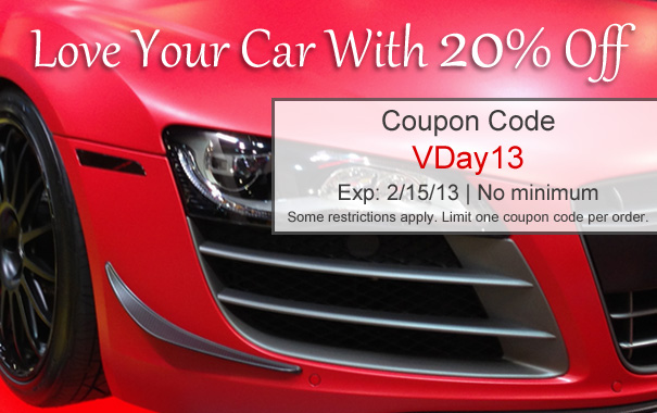 Love Your Car With 20% Off - Coupon Code Vday13