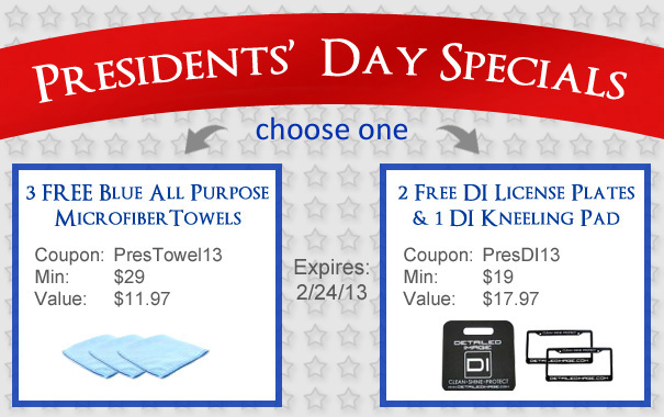 Presidents' Day Specials