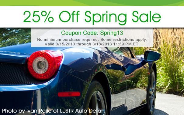 25% Off Spring Sale