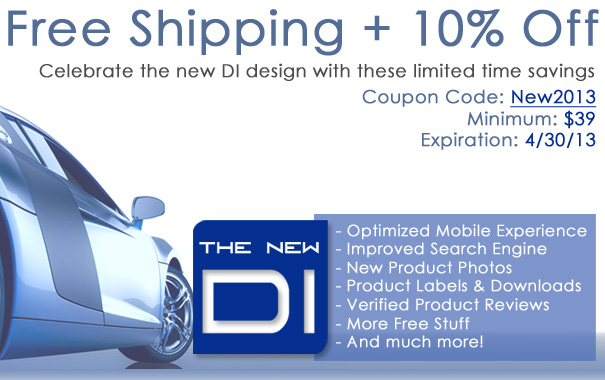 Free Shipping + 10% Off - Celebrate The New DI