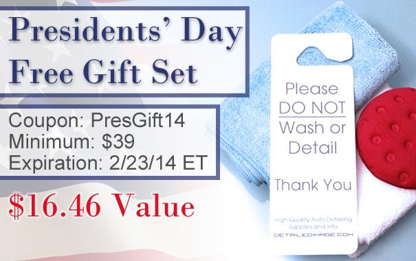 Presidents' Day Free Gift Set - Coupon: PresGift14 - Minimum Spend: $39 - Expires: 2/23/14 ET