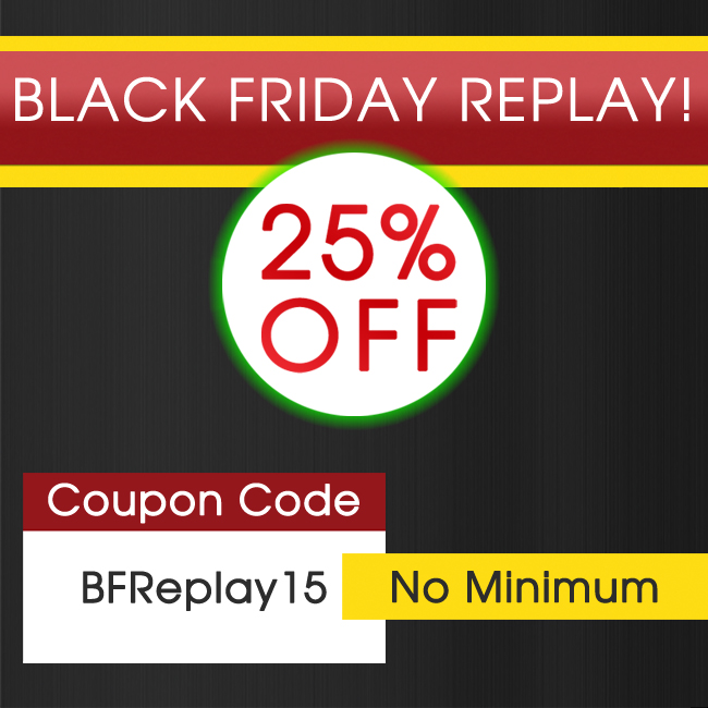 Guantity limitata nuovo autentico anteprima di 25% Off Black Friday Replay! – Detailed Image Blog