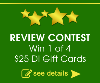 Review Contest - Win 1 of 4 $25 DI Gift Cards - See details