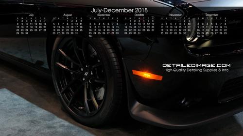 Detailed Image 2018 Wallpaper Calendar 2
