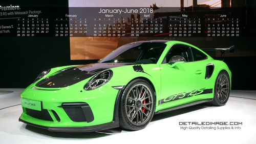 Detailed Image 2019 Wallpaper Calendar January - June