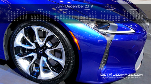 Detailed Image 2019 Wallpaper Calendar July - December