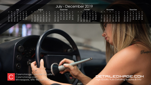 Jennifer Turcotte 2019 Wallpaper Calendar July - December