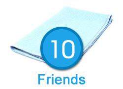 10 Friends - Waffle Weave Towel - 16in x 24in