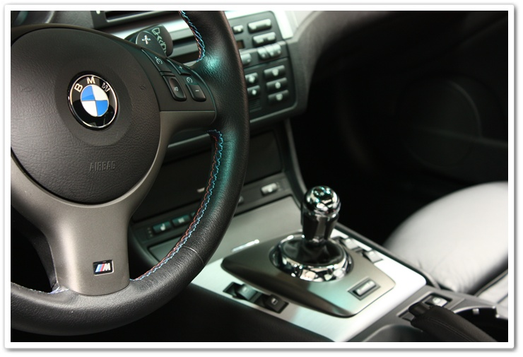 2005 BMW M3 interior detailed by Esoteric Auto Detail