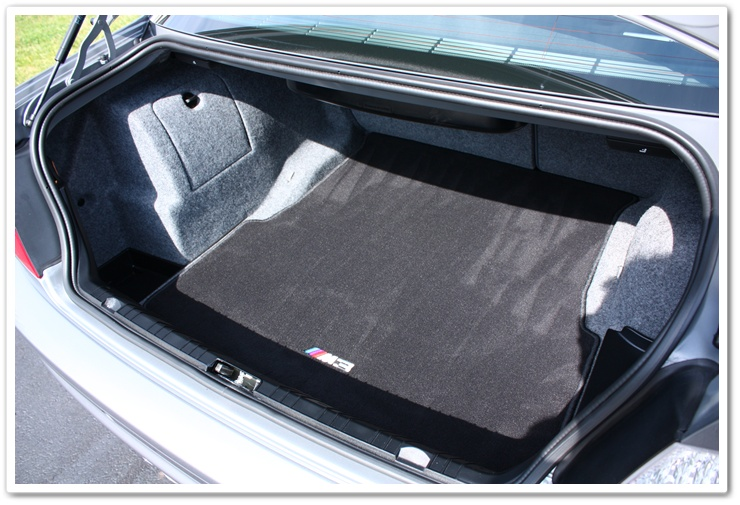 2005 BMW M3 trunk detailed by Esoteric Auto Detail