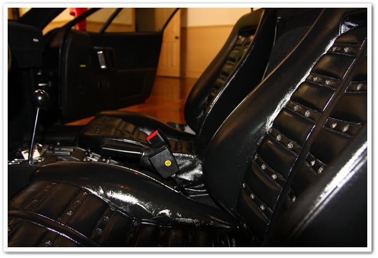 1985 Ferrari 288 GTO leather covered in Leatherique Rejuvenator Oil
