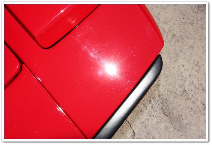 1985 Ferrari 288 GTO swirled paint before detailing