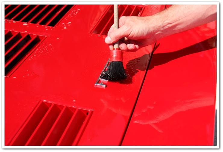 Using P21S Total Auto Wash on Ferrari 288 GTO badge
