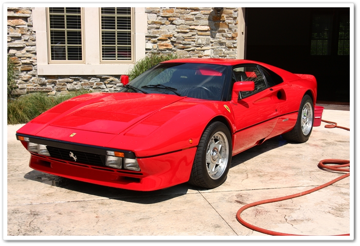 1985 Ferrari 288 GTO washed with Chemical Guys Citrus Wash and Clear