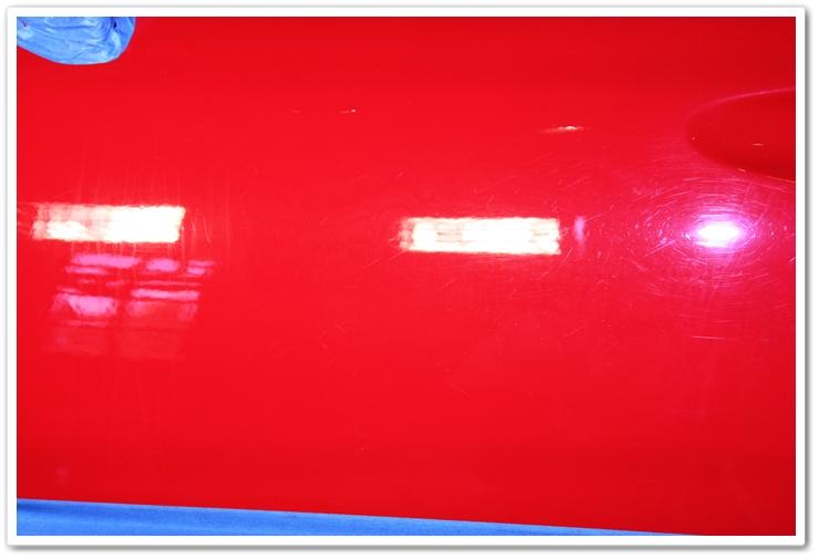 1985 Ferrari 288 GTO paint before polishing