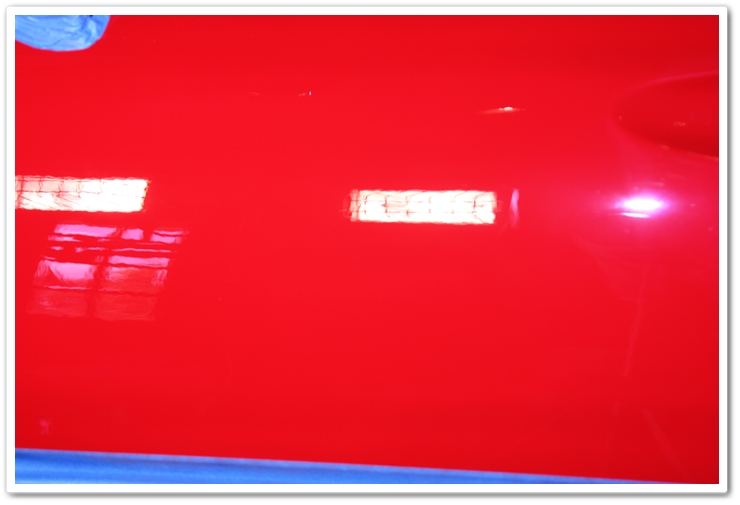 1985 Ferrari 288 GTO paint after polishing