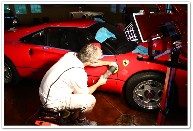 Polishing a 1985 Ferrari 288 GTO with Menzerna PO106FA Super Finish and a PC 7424 XP and grey pad