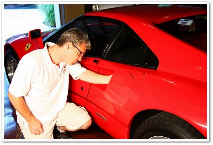 Applying Blackfire Wet Diamond to a 1985 Ferrari 288 GTO by hand