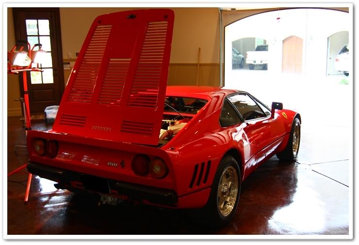 1985 Ferrari 288 GTO after detail
