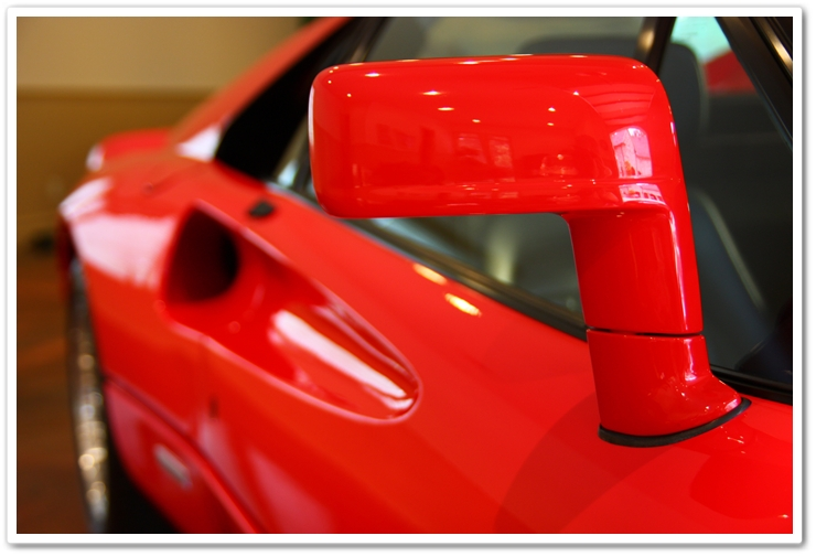 1985 Ferrari 288 GTO side view mirror