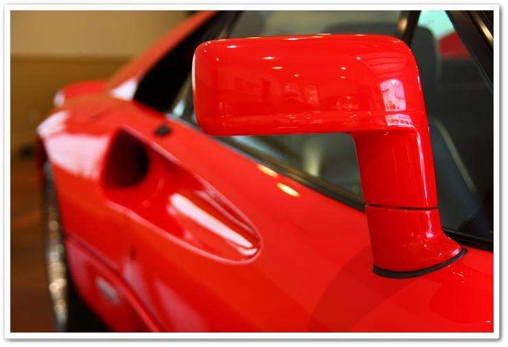 1985 Ferrari 288 GTO side view mirror