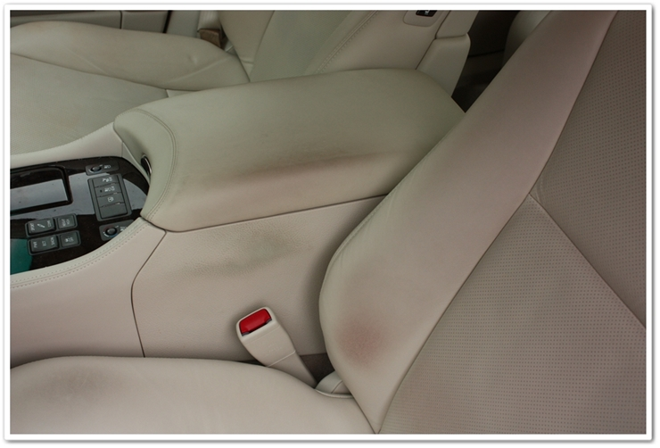 2008 Lexus LS460L stains on leather