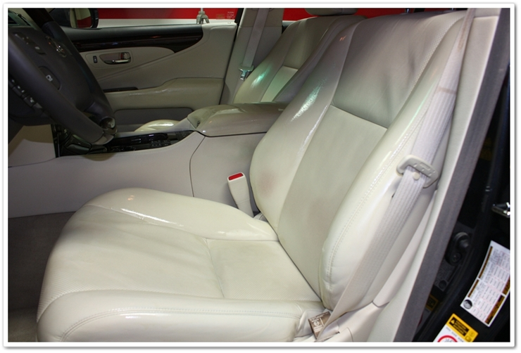 Leatherique penetrating driver seat on 2008 Lexus LS460L