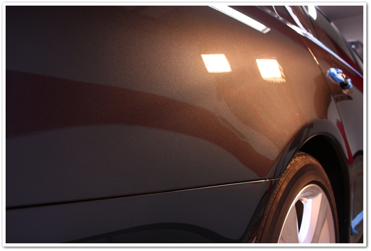 2008 Lexus LS460L paint after polish with Menzerna polishes