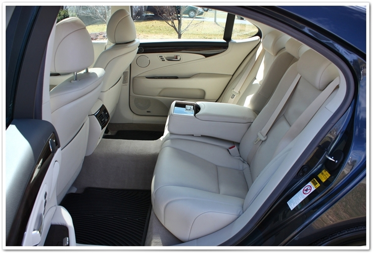 2008 Lexus LS460L back seat interior detailed by Esoteric Detail