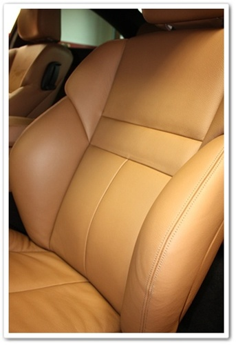 BMW M6 leather seats after using Leatherique Prestine Clean