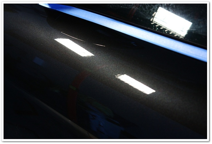 BMW M6 black sapphire paint after polishing