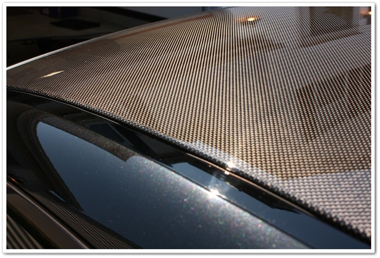 BMW M6 carbon fiber roof