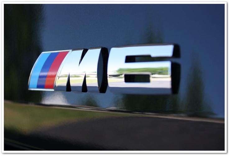 2008 BMW M6 black sapphire metallic M6 emblem