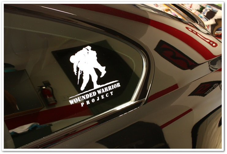 2008 BMW M6 black sapphire metallic wounded warrior project logo
