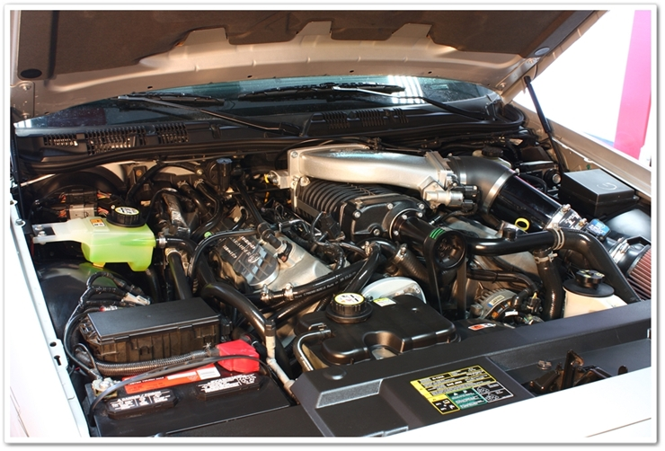 452hp Mercury Marauder engine bay detailed