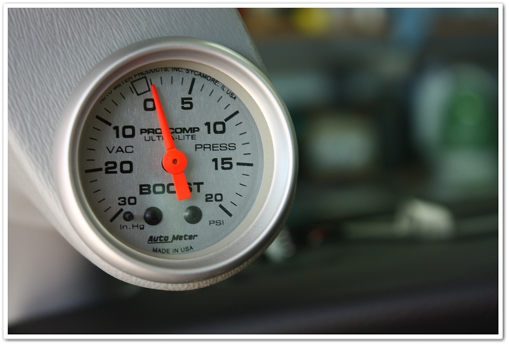 452hp 2004 Mercury Marauder boost gauge