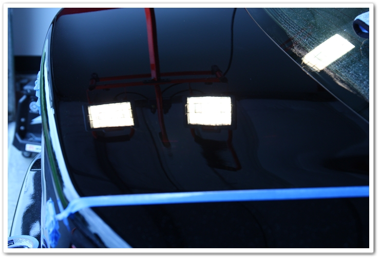 Trunk lid properly polished and corrected after milk left a bad stain on the paint