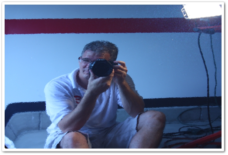 Reflection shot of Todd Cooperider, owner of Esoteric Auto Detail