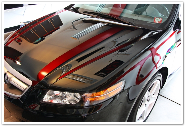 2006 Acura TL in Nighthawk Black Pearl after polishing by Esoteric Auto Detail