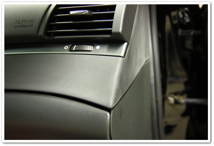 Chalky look to interior pieces of an Acura TL prior to detailing