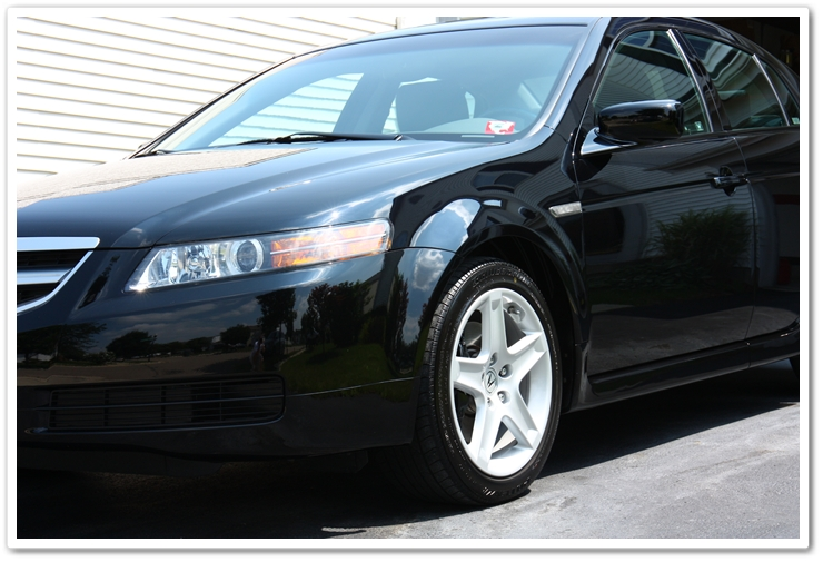 2006 Acura TL in Nighthawk Black Pearl completely restored after a complete Esoteric Auto Detail
