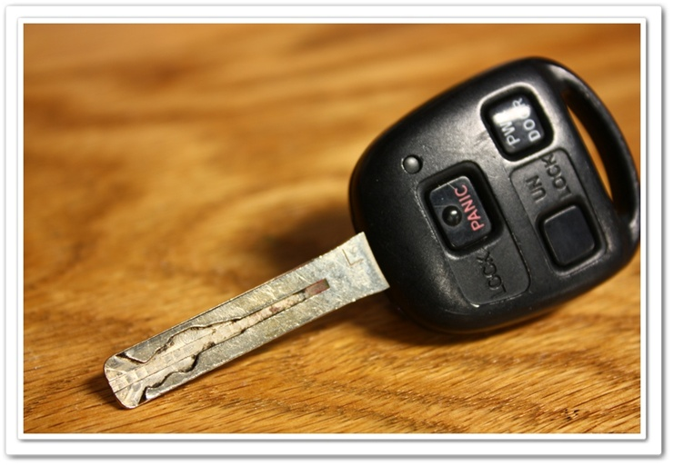 Dirty Lexus RX350 Key