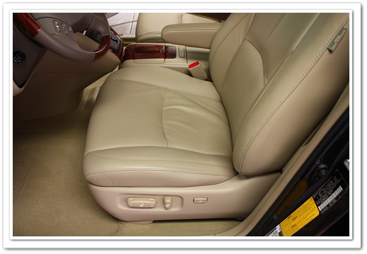 Lexus RX350 leather seats after using Leatherique Prestine Clean
